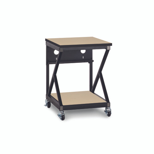 """24"""" 300 Series LAN Station / Workbench with 28"""" D Lower Shelf – Maple"""