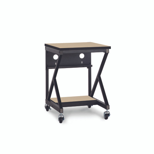 """24"""" 400 Series LAN Station / Workbench with 14"""" D Lower Shelf – Maple"""