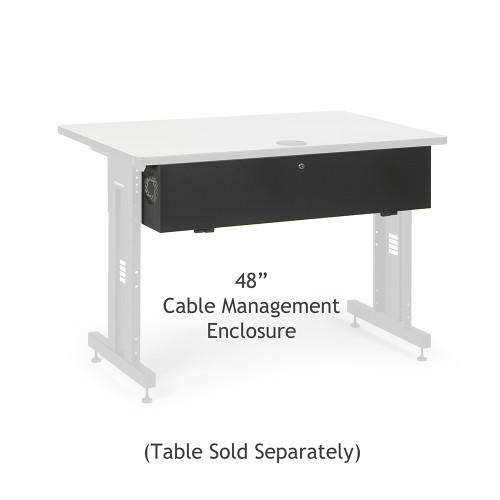 "48"" Training Table Cable Management Enclosure / Trough"