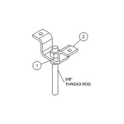 Ceiling Bracket Kit for Cable Ladder Racks