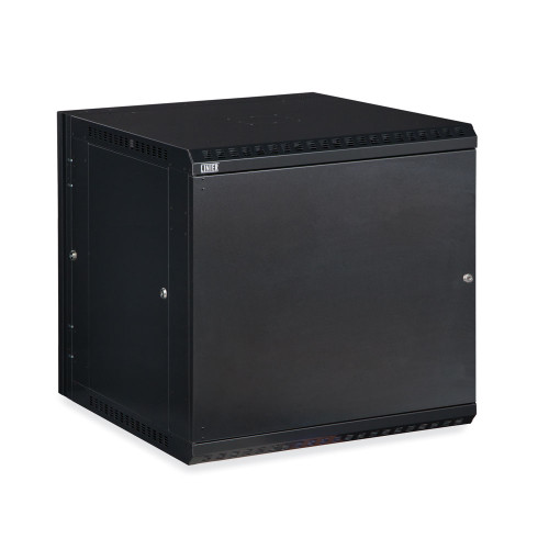 22U LINIER Swing-Out Wall Mount Cabinet With Solid Door
