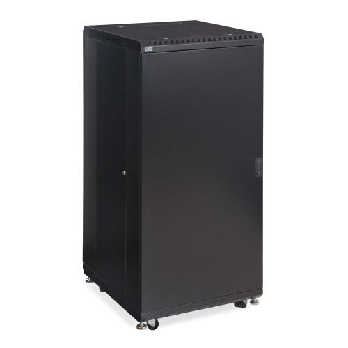 "27U Server Cabinet With Solid Front & Rear Vented Doors - 24"" Depth"