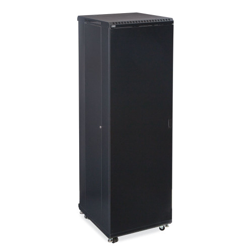 """42U Server Cabinet With Solid Front And Convex Rear Doors - 24"""" Depth"""