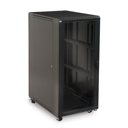 "27U Server Cabinet with Front Glass and Rear Vented Doors - 36"" Depth"