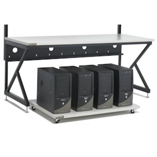 Mobil Server Cart With Servers  Under LAN Station