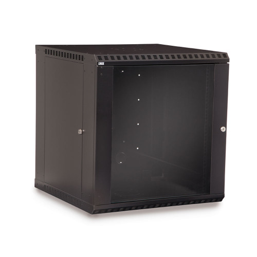 12U LINIER Fixed Wall Mount Cabinet With Glass Door