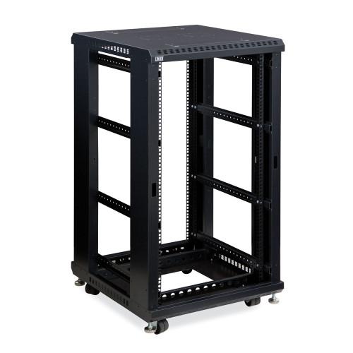 """22U LINIER Server Cabinet, Open Frame No Doors 24"""" Depth, 19"""" Rack Mount"""