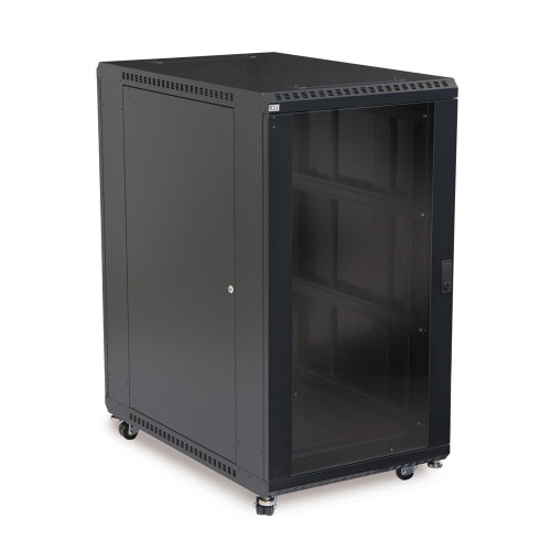 "22U Server Cabinet With Front Glass and Solid Rear Doors - 36"" Depth"