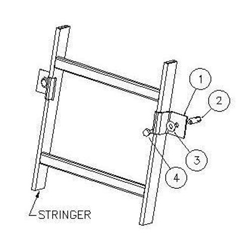 Vertical Mounting Clip for Cable Ladder Racks