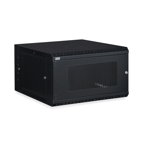 6U LINIER Swing-Out Wall Mount Cabinet With Perforated - Vented Door