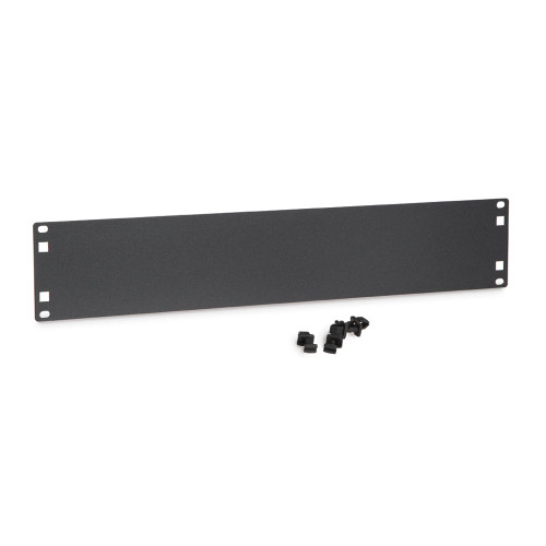 2U Flat Filler Panels / Spacer Blank with Tooless Mounting Clips
