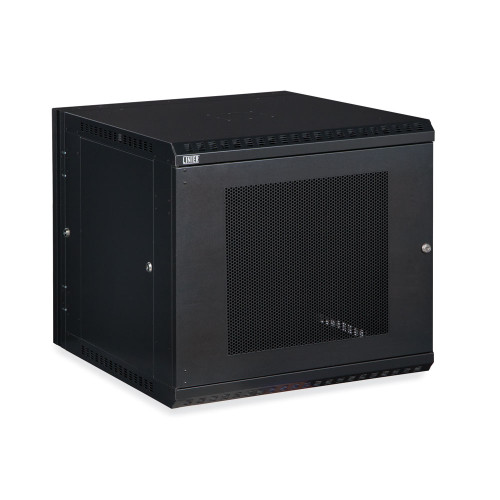 12U LINIER Swing-Out Wall Mount Cabinet With Perforated - Vented Door