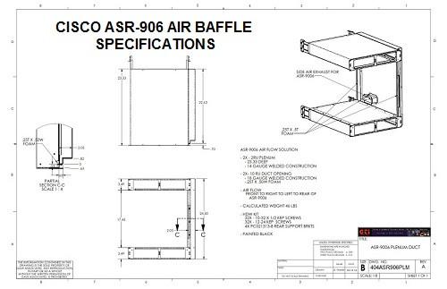 Cisco ASR906 Router Air Baffle/Air Plenum
