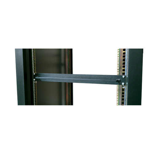 "19"" rack mount x 1u high filler panel with towel bar"