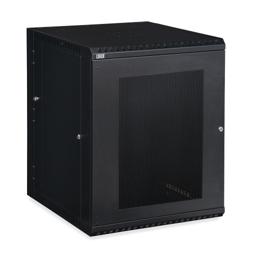 15U LINIER Swing-Out Wall Mount Cabinet With Perforated - Vented Door