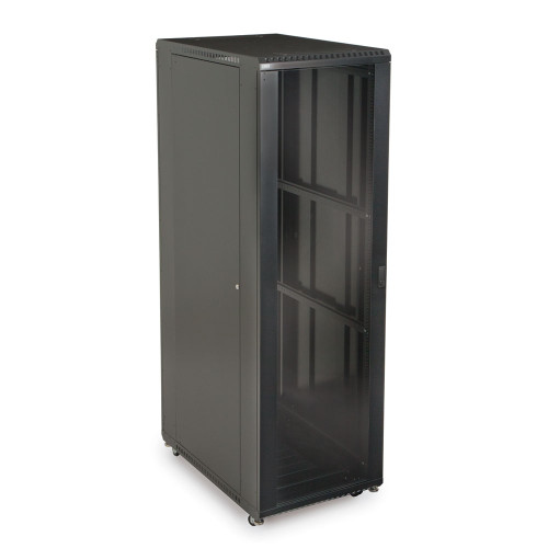 """42U Server Cabinet with Front Glass and Rear Vented Doors - 36"""" Depth"""
