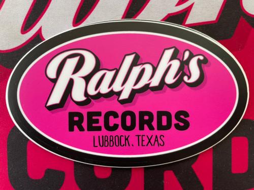 Ralphs Records Pink Sticker