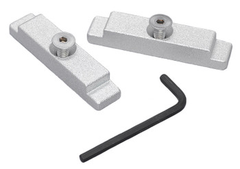Traxstech's Aluminum Mounting Track Endcaps in Clear/Silver (#MTEC-2)