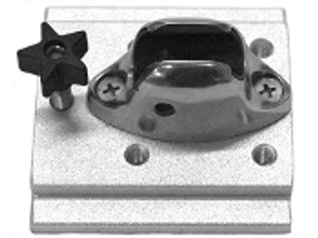 LSA-100 Bimini Top Plate  This compact mounting plate has two hole patterns drilled and tapped to allow your bimini top bracket to be removed from your boat.