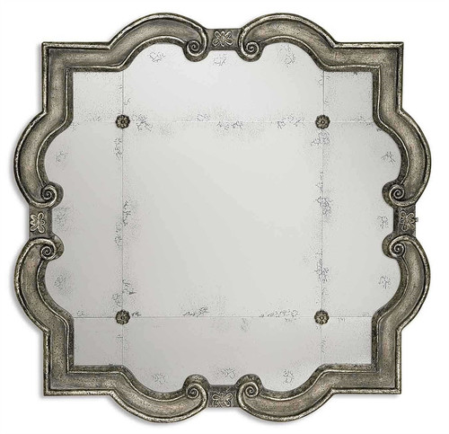 Priscilla Quarterfoil Antiqued Mirror