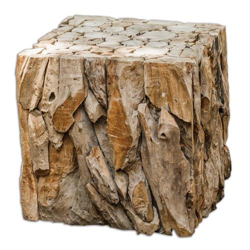 Multi-Use Teak Cube