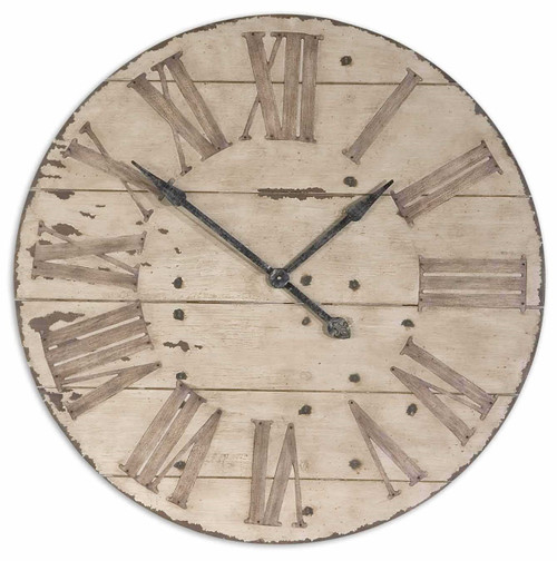 Antique Ivory Wall Clock