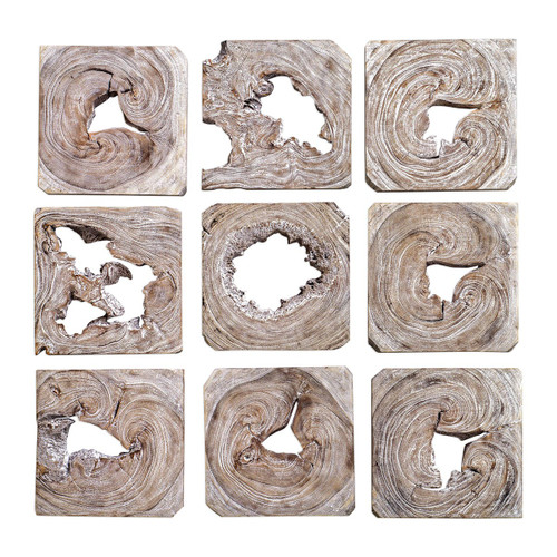 Abstract Wood Wall Art - Set
