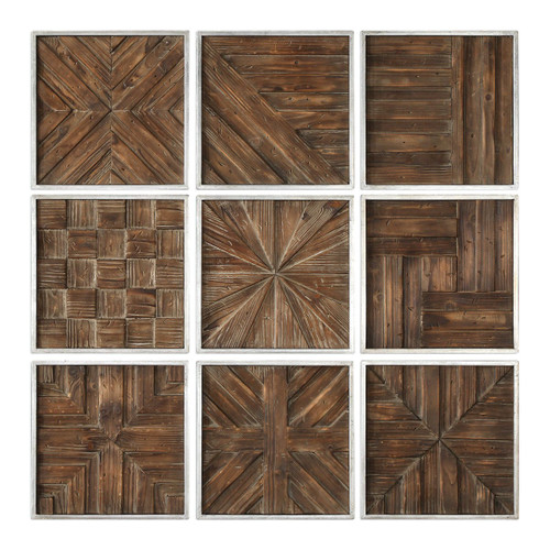 Patterned Wood Wall Art - Set