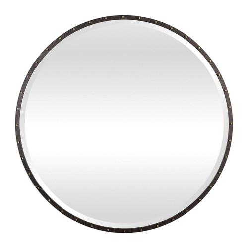 Studded Round Mirror