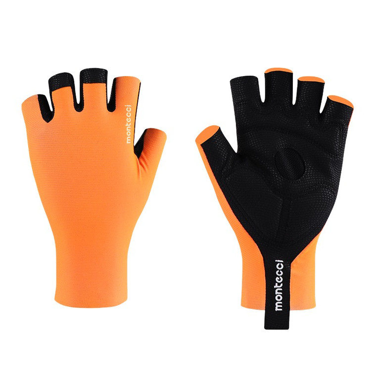 Orange  Short Finger Gloves