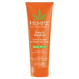 Hempz  Yuzu & Starfruit Touch of Summer Moisturizing Gradual Self-Tanning Crème with SPF 30  6.76 oz