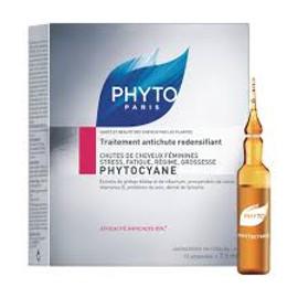 Phyto Phytocyane Revitalizing Serum Thinning Hair Treatment Size 12 tubes x 0.25 Oz.