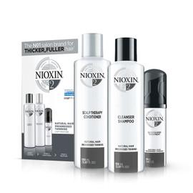 Nioxin System Trial Kit 2, Shampoo, Conditioner, Scalp Treatment