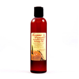 Keyano Pumpkin Spice Massage Oil 8 Oz.