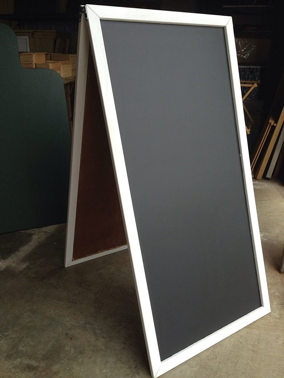 Sidewalk Sign 18 X 29 Black Chalkboard Display Easel Mahogany Frame