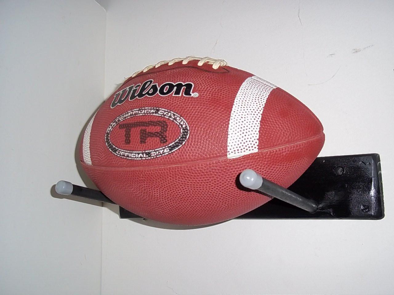 Wood Storage Ball Rack Soccer Basketball Football Black Wall Sport