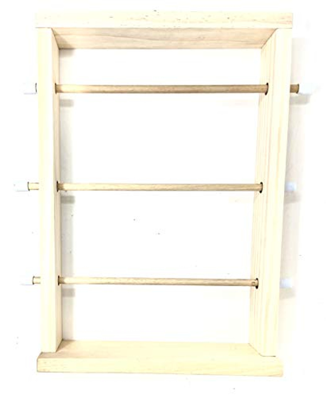 Wood Storage Natural Ribbon Rack Tabletop Curling Spool