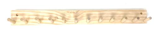 Natural Wood Baseball Softball Bat Rack 5-9 Full Size Bats