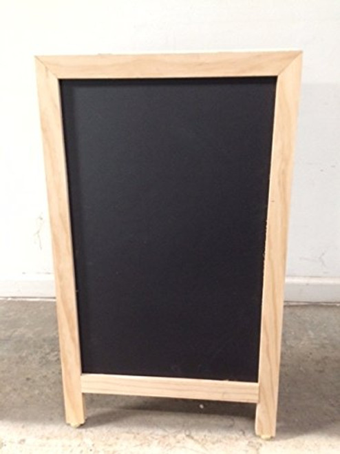 Sidewalk Display Sign 18 X 29 Black Chalkboard Natural Finish Hardwood Frame