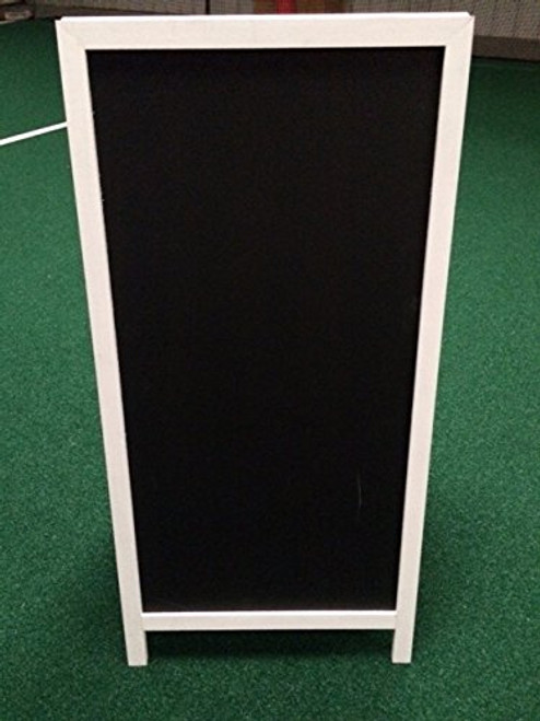 Sidewalk Display Sign Announcement Board 48 X 24 Black Chalkboard White Wood Frame with Legs Double Sided Bridal Boutique Wedding Banquet