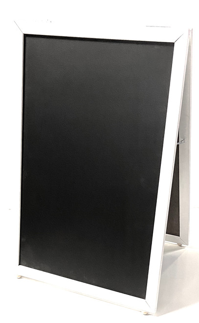 Sidewalk Display Sign Black Chalkboard 36 X 24 Double Side White Wood Frame
