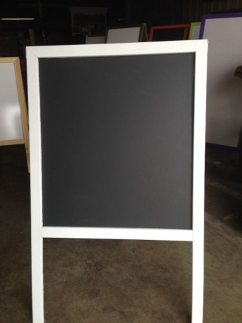 Black Chalkboard Sidewalk Display Sign Easel 39 X 24 Double Sided Hardwood Frame White