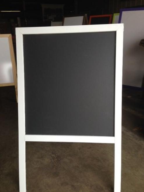 Black Chalkboard Sidewalk Display Sign Easel 39 X 24 Double Sided Hardwood Frame White