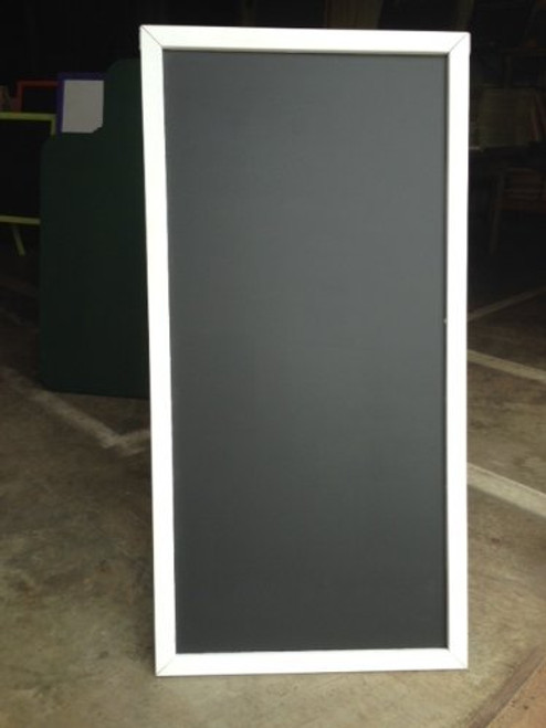 Black Chalkboard Sidewalk Display Sign 48 X 24 Double Sided Wood Frame White