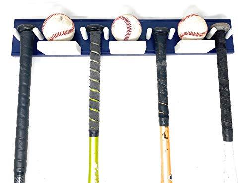 Baseball Bat Ball Display Rack Holder 4 Full Size Bats 3 Balls Softball