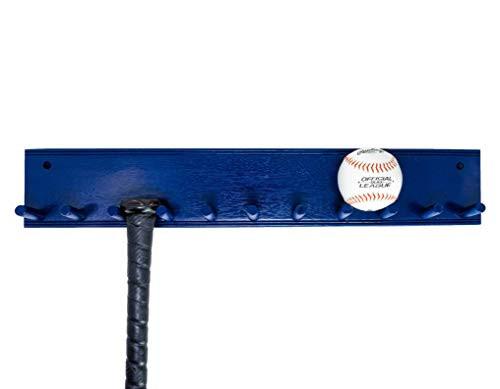 Natural Wood Full Size Baseball bat rack display Holds 10 bats