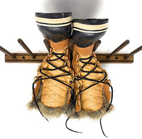 MWCSPORTS Reclaimed Solid Wood Boot/Drying Rack Display Holds 2 to 3 Pairs of Boots