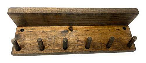 6 Peg Coat Utility Organizer Distressed Wood