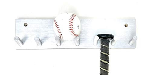 MWCSPORTS 6 Peg Bat Rack Made For Bat Storage and Organizing