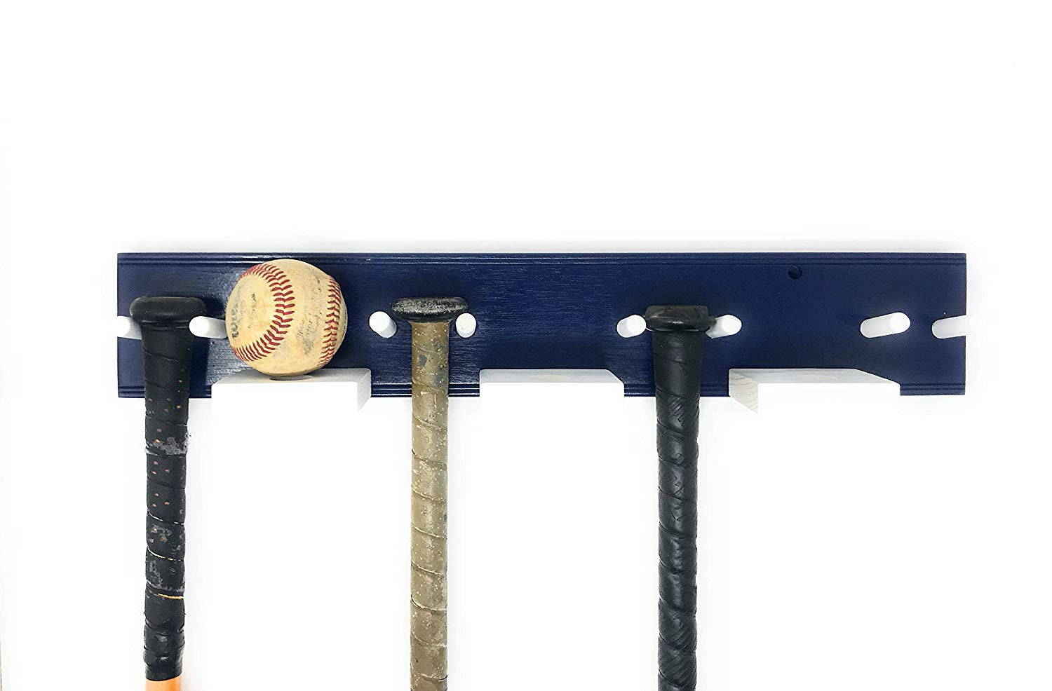MWCSPORTS Baseball Bat Rack Navy Blue White …